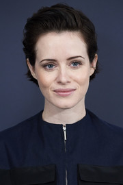 Claire Foy kept it breezy with this short side-parted hairstyle at the 'Girl in the Spiders' Web' photocall in Madrid.