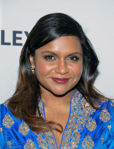 Mindy Kaling Long Wavy Cut [the mindy project,hair,face,hairstyle,eyebrow,beauty,black hair,forehead,lip,long hair,smile,mindy kaling,paleyfest new york,new york city,paley center for media]