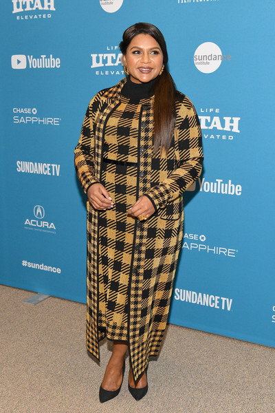 Mindy Kaling Printed Coat