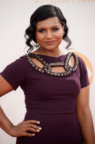 Mindy Kaling Bobby Pinned Updo