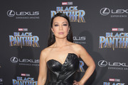 Ming-Na Wen Leather Dress