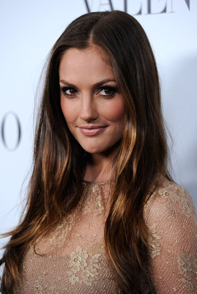 Minka Kelly Long Straight Cut