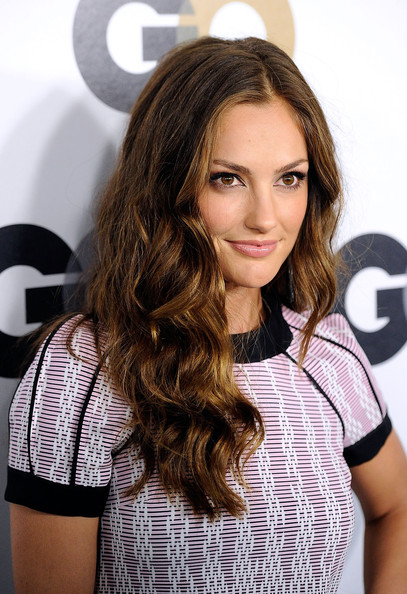 Minka Kelly Long Wavy Cut [men of the year,hair,face,hairstyle,brown hair,beauty,eyebrow,layered hair,long hair,blond,lip,party - arrivals,minka kelly,california,los angeles,chateau marmont,gq,party]