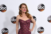 Mireille Enos Strapless Dress
