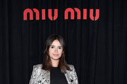 Miroslava Duma Leather Coat