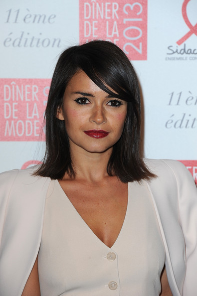 Miroslava Duma Medium Straight Cut with Bangs
