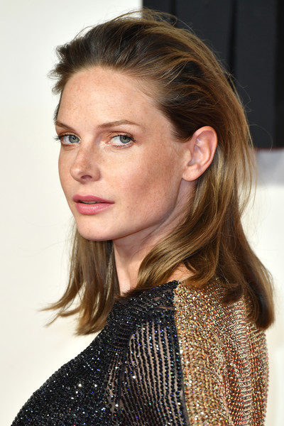 Rebecca Ferguson kept it relaxed with this slightly messy, brushed-back hairstyle at the UK premiere of 'Mission: Impossible — Fallout.'