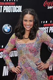 Paula Patton perfected her manicure with a shiny indigo metallic polish for the US premiere of 'Mission: Impossible - Ghost Protocol.'