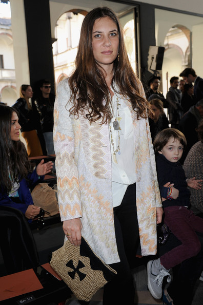 A muted print coat was a lovely choice for Tatiana's Missoni look.