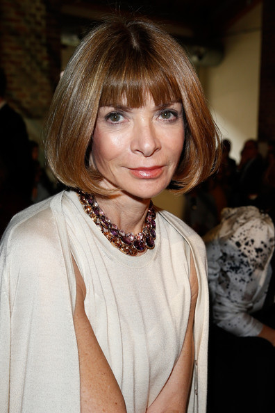 More Pics of Anna Wintour Bob (1 of 2) - Anna Wintour Lookbook - StyleBistro [show,hair,hairstyle,face,blond,bangs,layered hair,beauty,lip,eyebrow,bob cut,anna wintour,milan fashion week womenswear spring,missoni front row,part,milan,italy,missoni]