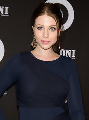 Michelle Trachtenberg batted her beautiful eyes at the Missoni for Target collection launch. To recreate her look, apply a black, liquid liner along upper lash line starting at the inner corner. Add a few dots of lash glue along lash strip and apply as close to the lash line as possible. Complete the look with a few coats of mascara.