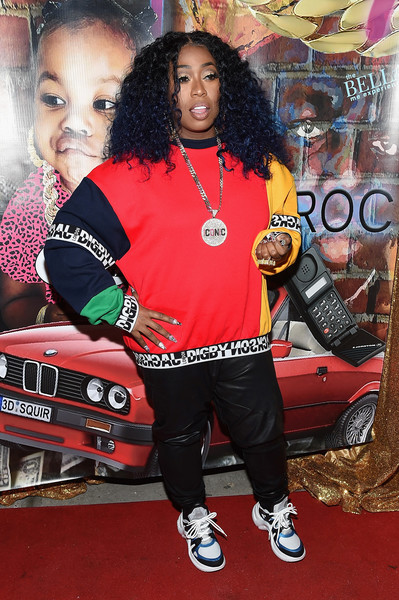 Missy Elliott Sweatshirt [cool,black hair,teyana taylor,missy elliott,new york city,junie bee nail salon,grand opening,junie bee nail salon grand opening]
