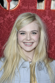 Elle Fanning opted for girly fun with stylish hair pin.