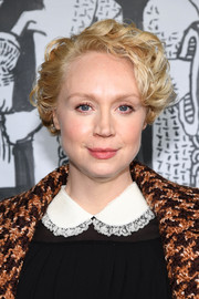 Gwendoline Christie looked adorable with her short curls at the Miu Miu Fall 2018 show.
