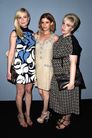 Kirsten Dunst attended the 'Miu Miu Women's Tales #7 - #8' premiere looking retro in a printed shift.