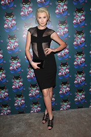Ireland Baldwin chose a pair of black Miu Miu gladiator heels  to pair with her sexy dress.