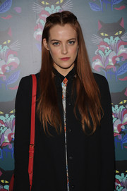 Riley Keough looked gorgeous at the 'Spark & Light' screening even with this simple center-parted half-up 'do.