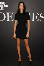 Georgia Fowler put on a leggy display in a super-short LBD during the 'De Djess' screening.