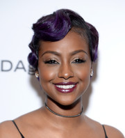 Justine Skye channeled the '20s with this finger wave at the MoCADA Masquerade Ball.