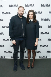 Rachel Weisz was classic in a Dior LBD with a contrast collar at the MoMA's Contenders screening of 'The Favourite.'