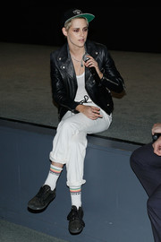 Kristen Stewart sported a cheeky pair of socks by Mother at the MoMA screening of 'Come Swim.'