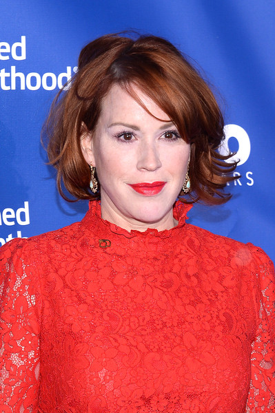 Molly Ringwald Bob [hair,beauty,human hair color,hairstyle,eyebrow,fashion model,lip,chin,shoulder,flooring,molly ringwald,planned parenthood 100th anniversary gala,pier 36,new york city,planned parenthood,gala]