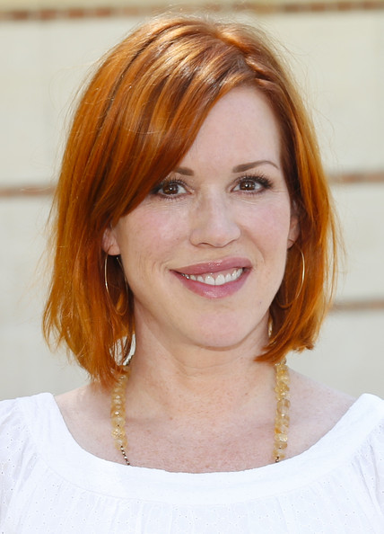 Molly Ringwald Graduated Bob [la times festival of books,hair,face,hairstyle,eyebrow,chin,layered hair,hair coloring,blond,forehead,red hair,molly ringwald,actress,california,los angeles,usc]