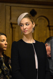 Beatrice Borromeo paired her black outfit with a simple black hat for the 2015 Monaco National Day celebrations.