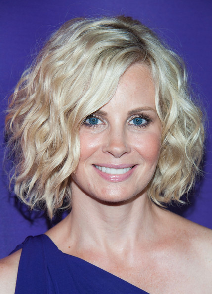 Monica Potter Curled Out Bob [hair,face,blond,hairstyle,eyebrow,chin,head,lip,surfer hair,layered hair,arrivals,monica potter,beverly hills,california,the beverly hilton hotel,nbcuniversal,2013 summer tca tour]
