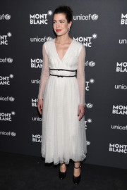 Charlotte Casiraghi was finessed to perfection in a gauzy white Giambattista Valli dress at the Montblanc & UNICEF Gala.