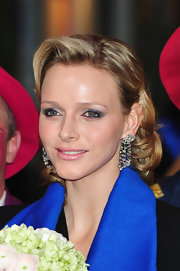 Charlene Wittstock wore metallic shadows, black liner and mascara at the Monte Carlo 35th International Circus Festival.