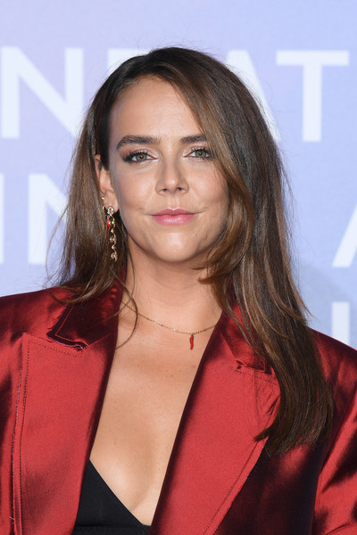 Pauline Ducruet attended the Monte-Carlo Gala for Planetary Health wearing her hair in a simple straight style.