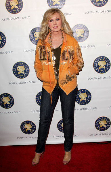 Morgan Fairchild Strappy Sandals [clothing,yellow,carpet,red carpet,outerwear,footwear,flooring,jacket,electric blue,style,morgan fairchild,sagindie breakthrough filmmakers party - arrivals,hollywood roosevelt hotel,california,audi,screen actors guild,sagindie breakthrough filmmakers party,afi fest 2010]
