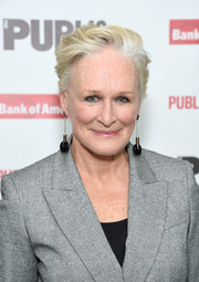 Glenn Close looked hip with her fauxhawk at the 'Mother of the Maid' opening night celebration.