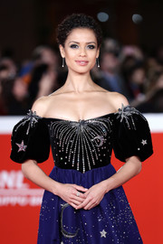 Gugu Mbatha-Raw paired her dazzling dress with a Gucci GG diamond ring for the Rome Film Fest premiere of 'Motherless Brooklyn.'
