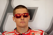 Nicky Hayden looked hip at the MotoGP of San Marino in his buzzcut.