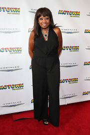 Star Jones' black jumpsuit added a cool and modern touch to her red carpet look.