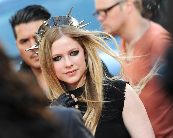More Pics of Avril Lavigne Little Black Dress (1 of 6) - Avril Lavigne Lookbook - StyleBistro [muchmusic video awards,hair,hairstyle,blond,beauty,fashion,long hair,headpiece,hair accessory,event,photography,arrivals,avril lavigne,red carpet,toronto,canada,bell media headquarters]