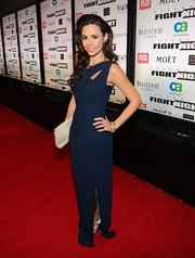 Eylcia Turnbow looked elegant at Muhammad Ali's Fight Night in Arizona in this midnight blue gown.