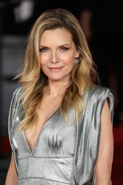 Michelle Pfeiffer sported a classic feathered flip at the world premiere of 'Murder on the Orient Express.'