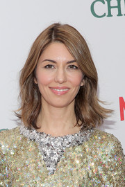 Sofia Coppola attended the New York premiere of 'A Very Murray Christmas' wearing her hair in a casual flippy style.