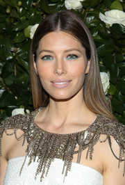 Jessica Biel opted for simple styling with this straight center-parted 'do when she attended the MoMA Film benefit.