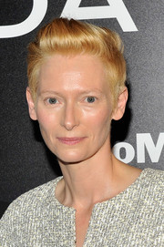 Tilda Swinton styled her short hair in a fauxhawk-like 'do for the MoMA film benefit.