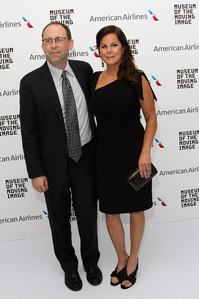 Marcia Gay Harden arrived at the Envision Award gala dinner wearing a little black dress with an asymmetric neckline.