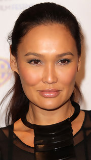 Tia Carrere opted for a simple ponytail when she attended the Museum of Tolerance International Film Festival gala.