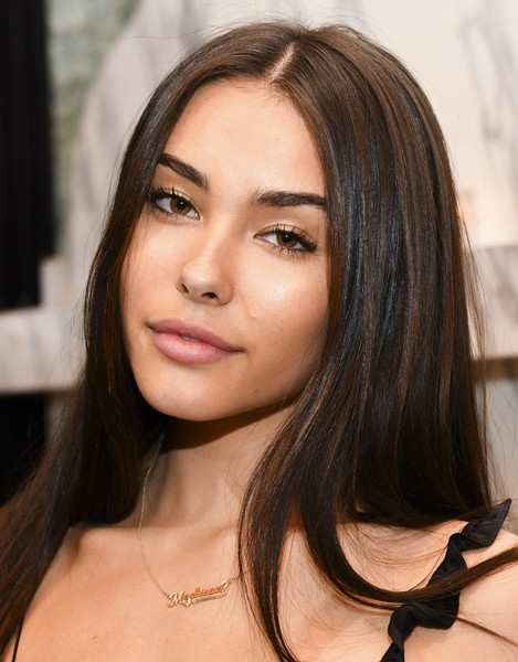 Madison Beer sported a sleek straight hairstyle during Steven Levine's birthday dinner.