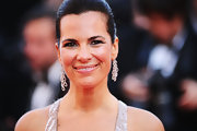 Roberta Armani wowed at the Cannes Film Festival in silver dangle earrings.