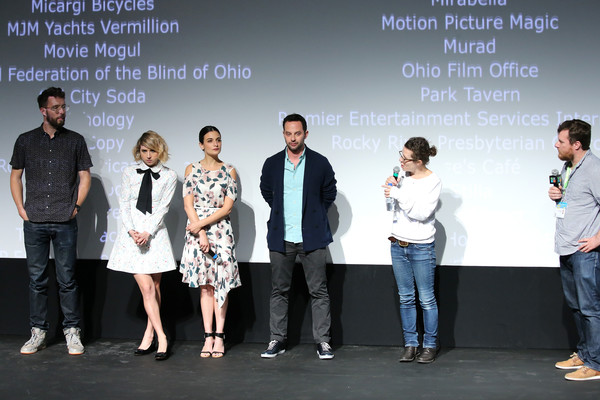 More Pics of Jenny Slate  Print Dress (1 of 21) - Dresses & Skirts Lookbook - StyleBistro [my blind brother,event,youth,team,janet pierson,charlie hewson,zoe kazan,nick kroll,jenny slate,stage,film interactive festival,sxsw music,screening]