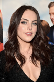 Elizabeth Gillies wore loose, center-parted waves at the New York premiere of 'My Big Fat Greek Wedding 2.'