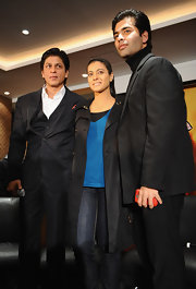 Shahrukh Khan was dapper, as usual, in a satin-trimmed black tux at the 'My Name is Khan' press conference.